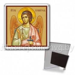 Икона-магнит на подставке, акрил., МгИ-1, Ангел Хранитель, охра