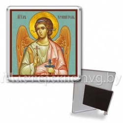 Икона-магнит на подставке, акрил., МгИ-2, Ангел Хранитель, бирюза