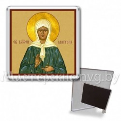 Икона-магнит на подставке, акрил., МгИ-5, Матрона Московская, охра