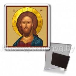 Икона-магнит на подставке, акрил., МгИ-11, Спаситель, охра