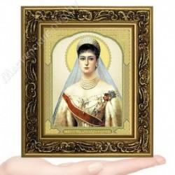 Александра царица-муч., V-43 / 10х12 икона, двойное тиснение / Багет В