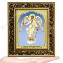 Ангел Хранитель, V-130 / 10х12 икона, двойное тиснение / Багет В