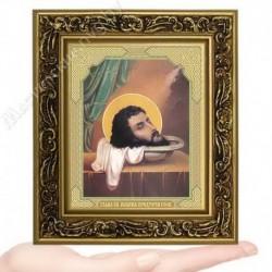 Усекновение главы Иоанна Крестителя, V-140 / 10х12 икона, двойное тиснение / Багет В