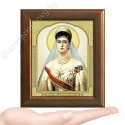 Александра царица-муч., V-43 / 10х12 икона, двойное тиснение / Дерево