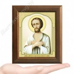 Алексий, человек Божий, V-164 / 10х12 икона, двойное тиснение / Дерево