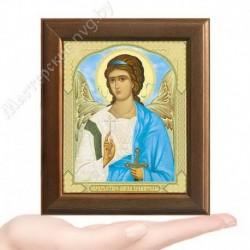 Ангел Хранитель, V-180 / 10х12 икона, двойное тиснение / Дерево