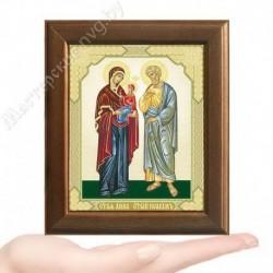 Иоаким и Анна, V-172 / 10х12 икона, двойное тиснение / Дерево