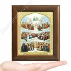 Образ Всех Святых, V-173 / 10х12 икона, двойное тиснение / Дерево