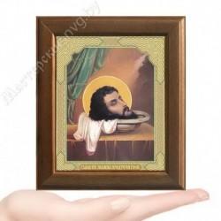 Усекновение главы Иоанна Крестителя, V-140 / 10х12 икона, двойное тиснение / Дерево