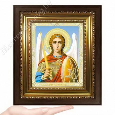 Архангел Михаил, N-45 / 15х18 икона, двойное тиснение / Киот КП2