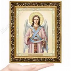Ангел Хранитель, N-3 / 15х18 икона, двойное тиснение / Багет В