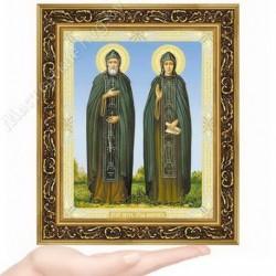 Петр и Феврония, N-50 / 15х18 икона, двойное тиснение / Багет В