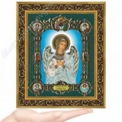 Ангел Хранитель (на голубом), NS-1 / 15х18 икона, конгрев цветной / Багет В