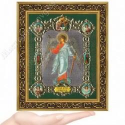 Ангел Хранитель рост, NS-3 / 15х18 икона, конгрев цветной / Багет В