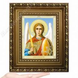 Архангел Михаил, N-45 / 15х18 икона, двойное тиснение / Багет Д