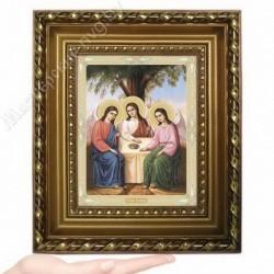 Троица, N-13 / 15х18 икона, двойное тиснение / Багет Д