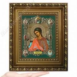 Ангел Хранитель пояс, NS-2 / 15х18 икона, конгрев цветной / Багет Д
