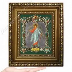 Ангел Хранитель рост, NS-3 / 15х18 икона, конгрев цветной / Багет Д