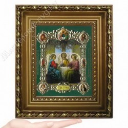 Троица, NS-26 / 15х18 икона, конгрев цветной / Багет Д