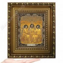 Троица, GK-8 / 15х18 икона, золотистый конгрев / Багет Д