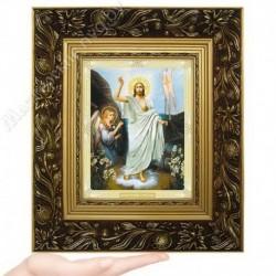 Воскресение Господне, N-51 / 15х18 икона, двойное тиснение / Багет Е
