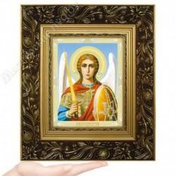 Архангел Михаил, N-45 / 15х18 икона, двойное тиснение / Багет Е