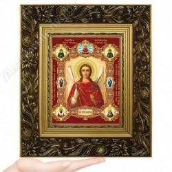 Ангел Хранитель, NK-7 / 15х18 икона, конгрев цветной / Багет Е