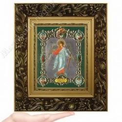 Ангел Хранитель рост, NS-3 / 15х18 икона, конгрев цветной / Багет Е