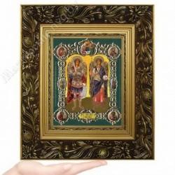 Архангелы Михаил и Гавриил, NS-4 / 15х18 икона, конгрев цветной / Багет Е