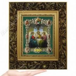 Троица, NS-26 / 15х18 икона, конгрев цветной / Багет Е