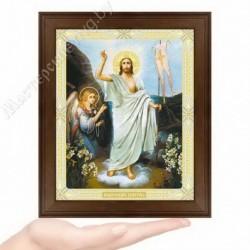Воскресение Господне, N-51 / 15х18 икона, двойное тиснение / Дерево