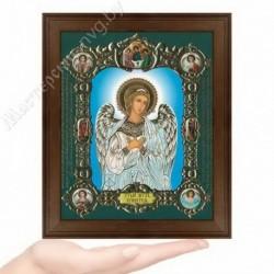 Ангел Хранитель (на голубом), NS-1 / 15х18 икона, конгрев цветной / Дерево