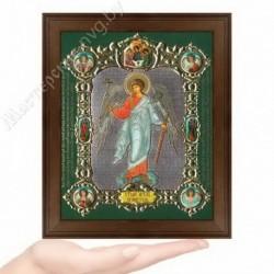 Ангел Хранитель рост, NS-3 / 15х18 икона, конгрев цветной / Дерево