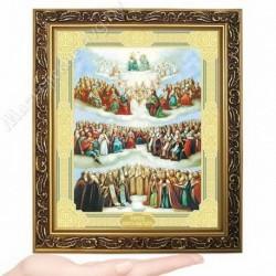 Всех святых (новый), D-62 / 17х21 икона, двойное тиснение / Багет В