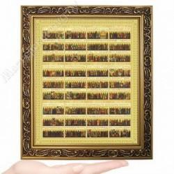 Всех святых календарь, D-54 / 17х21 икона, двойное тиснение / Багет В