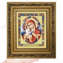 Жировицкая БМ, D-24 / 17х21 икона, двойное тиснение / Багет Д
