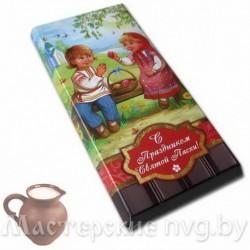 Шоколад молочный, вес 90г / шП7, Дети на лавке