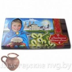 Шоколад молочный, вес 90г / шП8, Девочка в голубом