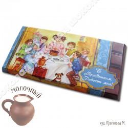 Шоколад молочный, 90г / ш4, Дети, день Ангела