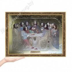 Тайная Вечеря, EG-4 / Икона 33х45, золотистый конгрев / Багет В