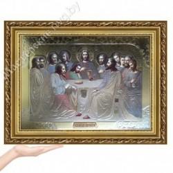 Тайная Вечеря, EG-4 / Икона 33х45, золотистый конгрев / Багет Д