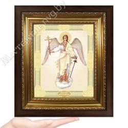 Ангел Хранитель, D-39 / 17х21 икона, двойное тиснение / Киот КП2
