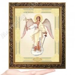 Ангел Хранитель, D-39 / 17х21 икона, двойное тиснение / Багет В