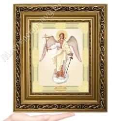 Ангел Хранитель, D-39 / 17х21 икона, двойное тиснение / Багет Д