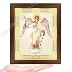 Ангел Хранитель, D-39 / 17х21 икона, двойное тиснение / Дерево