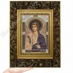 Ангел Хранитель, GP-3 / Икона 17 х 24, золотистый конгрев / Багет Е