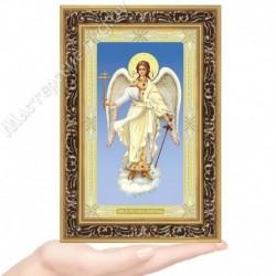 Ангел Хранитель, G-14 / 12х20 икона, двойное тиснение / Багет В