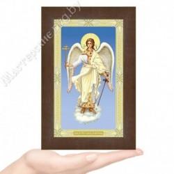 Ангел Хранитель, G-14 / 12х20 икона, двойное тиснение / Дерево