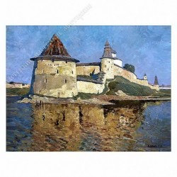 Картина на подрамнике, 22х30, Кт-34, Монастырь, худ. В Стожаров