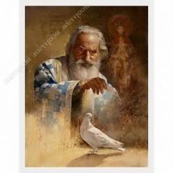 Картина на подрамнике, 22х30, Кт-42, Павел Патриарх Сербский, худ. не известен